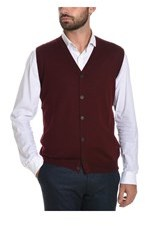 Altea Men's Burgundy Wool Vest.