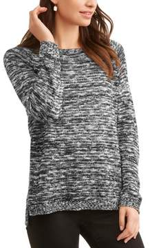 Caribbean Joe Women's Long Sleeve Marled Sweater