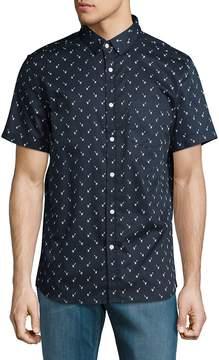 Sovereign Code Men's Garwin Cotton Casual Button-Down Shirt - Navy, Size xl [x-large]