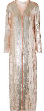 Temperley London Bardot Sequined Chiffon Coat - Pastel pink