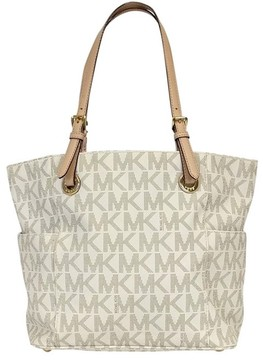 Michael Kors Cream Monogram Handbag - CREAM - STYLE
