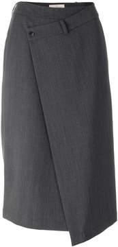 A.F.Vandevorst asymmetric A-line skirt