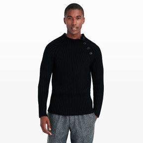 Club Monaco Buttoned Mock Neck Sweater