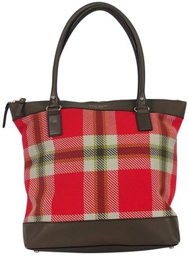 Kate Spade Red Plaid Leather Tote - RED - STYLE
