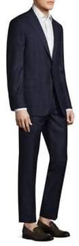 Hickey Freeman Slim-Fit Plaid Tasmanian Wool Suit