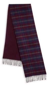 Saks Fifth Avenue COLLECTION OF JOHNSTONS Plaid Merino Wool& Cashmere Scarf