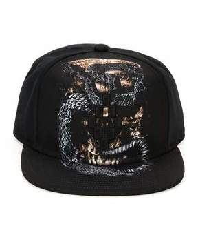Marcelo Burlon County of Milan Bayo Printed Flat-Bill Cap, Black