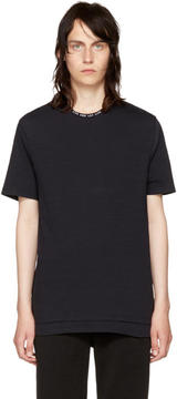 Neil Barrett Black Live and Let Live Collar T-Shirt