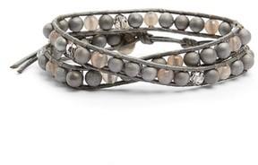 Chan Luu Women's Silver Agate & Crystal Wrap Bracelet