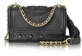 Tory Burch Women's Black Leather Shoulder Bag. - BLACK - STYLE