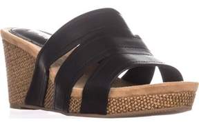 Style&Co. Sc35 Juliaa Slip-on Casual Wedge Sandals, Black.