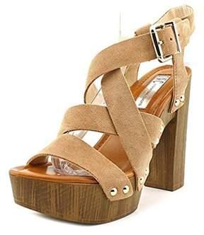 INC International Concepts Womens Camira Open Toe Ankle Strap Platform Pumps.