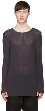 Damir Doma Purple Open Knit Kes Sweater