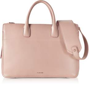 Jil Sander Open Pink Leather Satchel Bag