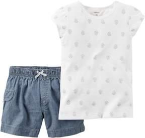 Carter's Baby Girls Glitter Shorts Set