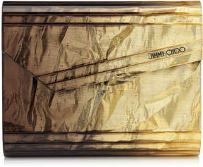 Jimmy Choo CANDY Gold and Bronze Glitter Acrylic Clutch Bag