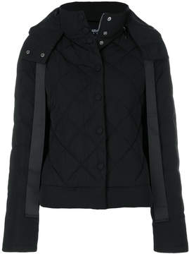 Armani Jeans contrast stripe puffer jacket