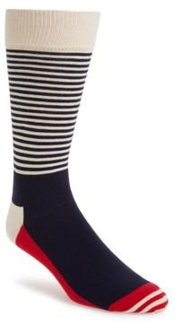 Happy Socks Men's Stripe Colorblock Socks