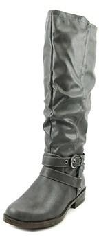 XOXO Martin Women Round Toe Synthetic Gray Knee High Boot.