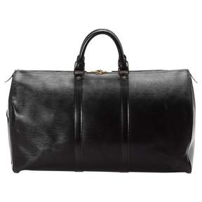 Louis Vuitton Keepall leather weekend bag