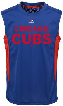 Majestic Boys 8-20 Chicago Cubs Foul Line Muscle Tee