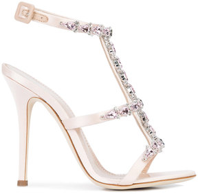 Giuseppe Zanotti Design strappy crystal embellished sandals