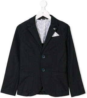 Emporio Armani Kids dotted logo blazer