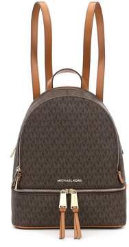 MICHAEL Michael Kors Rhea Signature Medium Backpack - BROWN - STYLE