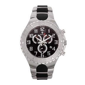 Croton Mens Silver Tone Strap Watch-Cc311356ssbk