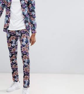 Asos DESIGN Tall super skinny pants in bright floral print