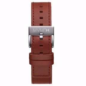 MVMT Mens Chrono 40mm Series 20mm Natural Tan Leather