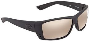 Costa del Mar Cat Cay Copper Silver Mirror Rectangular Sunglasses AT 01 OSCGLP