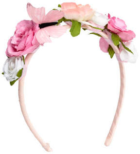 H&M Alice band with flowers - Pink