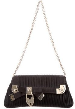 Gucci Satin Chain Evening Bag - BLACK - STYLE