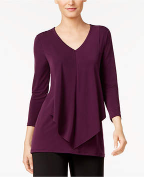Alfani Layered-Look Draped-Front Top, Created for Macy's