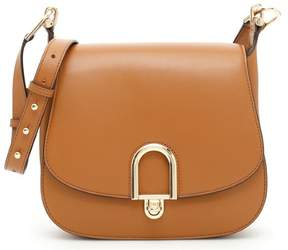 Michael Kors Delfina Large Leather Saddlebag - Acorn - 30T7GDZM3L-532 - ACORN - STYLE