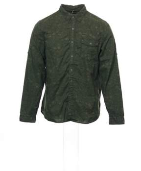 Converse 'Black Canvas' Green Abstract Button Down Shirt Sport