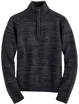Chaps Boys 4-20 Quarter-Zip Marled Sweater