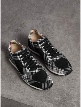 Burberry Tartan Wool Trainers