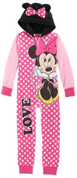 Disney Disney's Minnie Mouse Girls 4-8 3D Ears One-Piece Pajamas