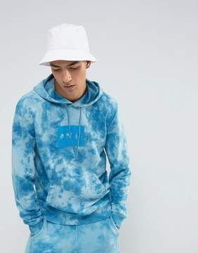 Antioch Oversized Tie Dye Hoodie with Block Print