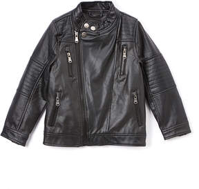Urban Republic Black Faux Leather Moto Jacket - Infant, Toddler & Boys