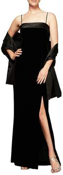 Alex Evenings Velvet Column Gown
