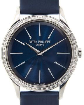 Patek Philippe Calatrava Night Blue Dial Ladies Hand Wound Watch