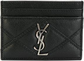 Saint Laurent Monogram card holder - BLACK - STYLE