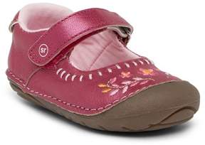 Stride Rite Atley Embroidered Leather Mary Jane Flat (Baby & Toddler)