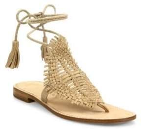Joie Kacia Huarache Suede Lace-Up Sandals