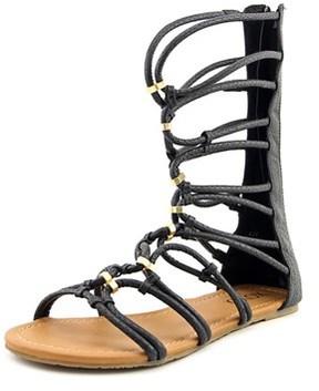 XOXO Gizella Women Open Toe Synthetic Black Gladiator Sandal.