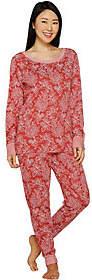 Carole Hochman As Is Petite Floral Paisley Interlock Lounge Set