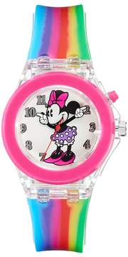 Disney Disney's Minnie Mouse Girls' Rainbow Light-Up Watch